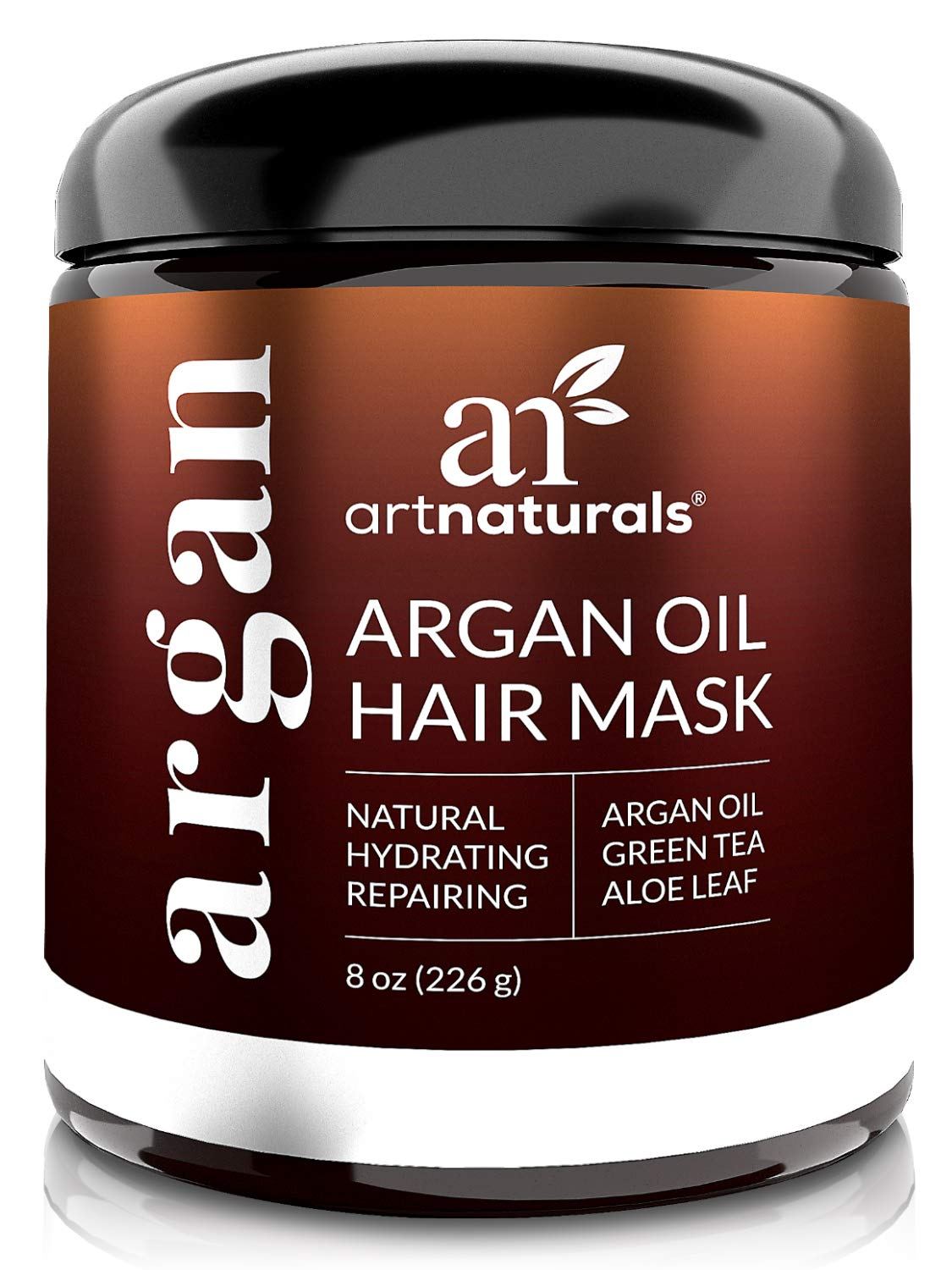 ArtNaturals Argan Oil Hair Mask - (8 Oz/226g) - Deep Conditioner - 100% Organic Jojoba Oil, Aloe Vera & Keratin - Repair Dry, Damaged Or Color Treated Hair After Shampoo - Sulfate Free by ArtNaturals (Image #1)