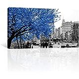 CANVAS REVOLUTION   Cuadro Decorativo Canvas Lienzo Impresión   Nueva York   Otoño Azul En La Ciudad   Diferentes…