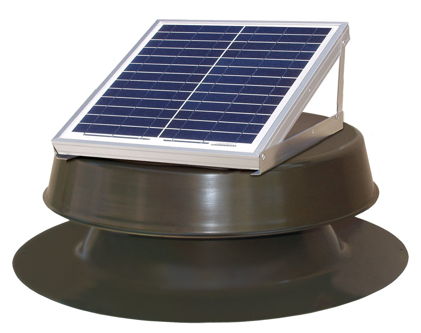 Natural Light Solar Attic Fan 12-watt Bronze by Natural Light