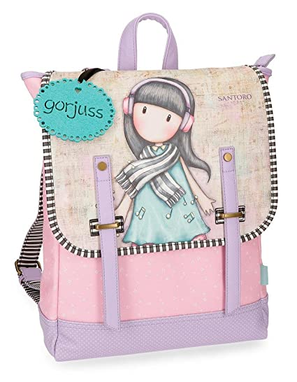 Gorjuss Lost In Music Mochila Tipo Casual, 38 cm, 9.92 litros