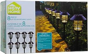 HGTV Solar Pathway Lights 8pc Set