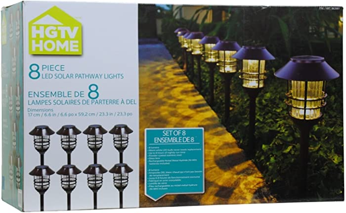Top 10 Hgtv Home 8 Piece Solar Pathway Lights