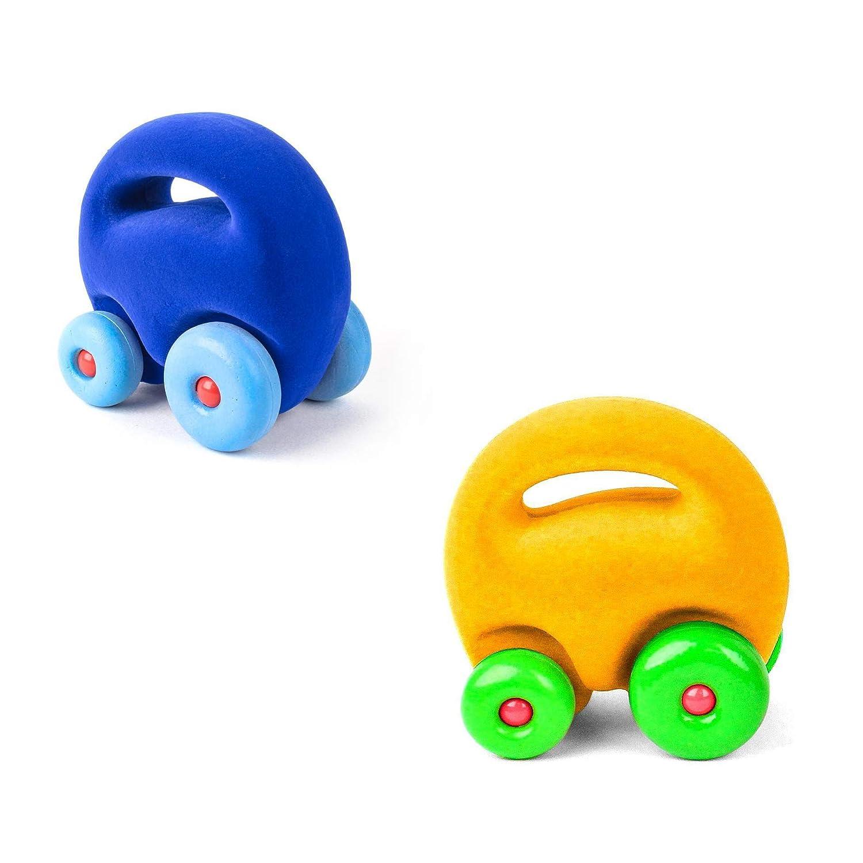 Rubbabu Mascot Car Grab Em 2 Pack Dark Blue and Yellow Car