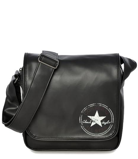 Bag Shoulder Pocketed 24 Bandolera Black Bolso Cm Converse 4LRj35A