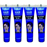 Lilium Herbal Hair Highlights Electric Blue Temporary Color 20gm Pack of 4