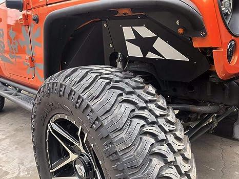 Tepeng 1 Pair Front Inner Fender Liners for Jeep Wrangler JK Sport Sahara Rubicon 2//4 Doors 2007-2018