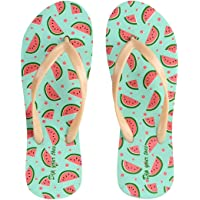 Dip your toes Multi Coloured Open Toe Printed Flip Flop for Women's