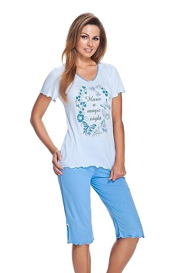 76fca16883688 FEMME - Ensemble de Pyjama - Femme Multicolore Bleu Taille S: Amazon.fr:  Vêtements et accessoires