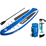 "iRocker Inflatable CRUISER Stand Up Paddle Board 10'6"" Long 33"" Wide 6"" Thick SUP Package"