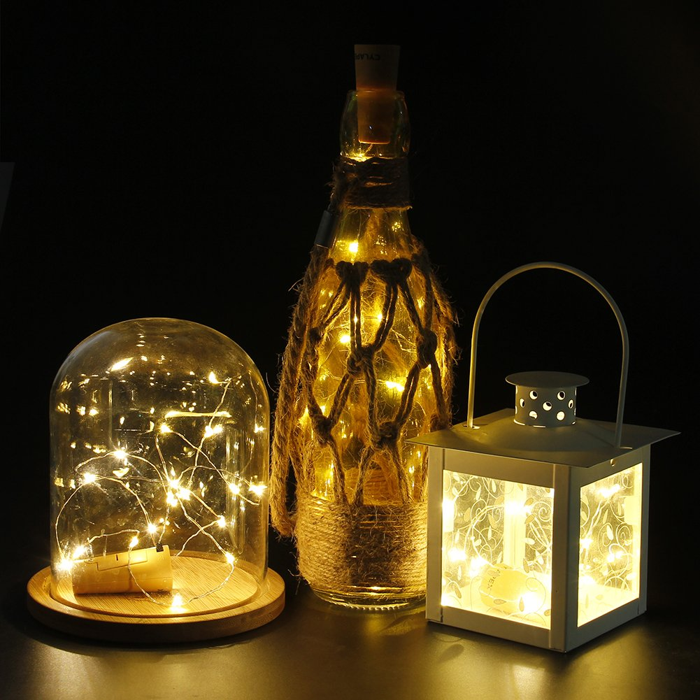 wine lighting. Amazon.com: CYLAPEX Pack Of 6 Wine Bottle Lights With Cork, 20 LED On Copper Wire, Cork For DIY Decoration, Lighting