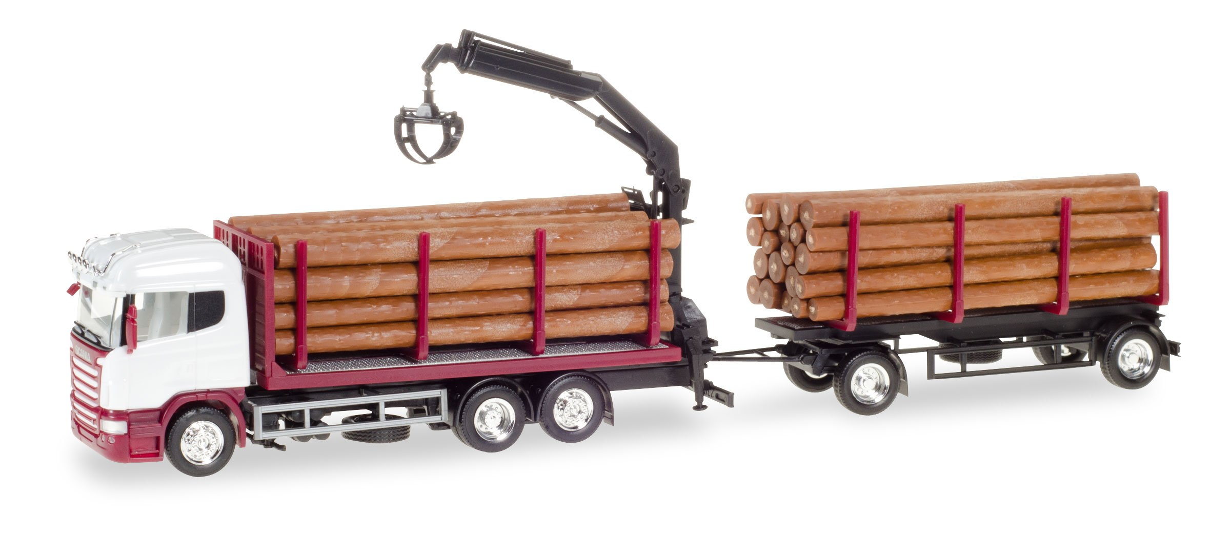 HERPA 307383 ''Scania R Hl Wood Carrier Unprinted Model Set