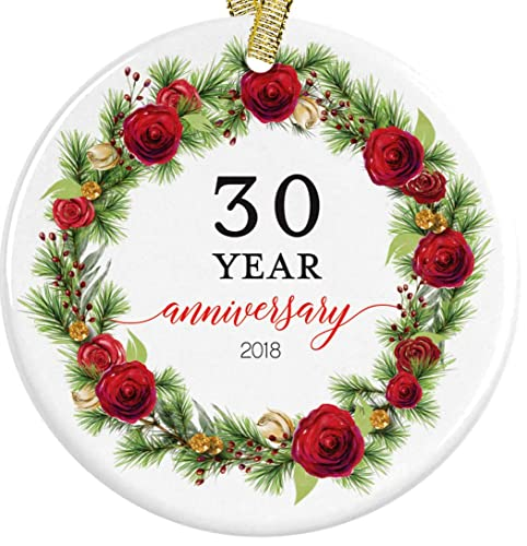 Amazon Com 30 Year Anniversary Christmas 2018 Red Floral