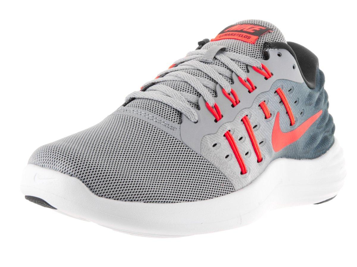 Nike Herren Lunarstelos Runningschuhe  43 EU|Grau (Wolf Grey / Total Crimson-anthracite-white)