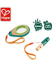 Hape Outdoor Adventure Collection Nature Detective Set Magnifying Glass and Whistle, Green