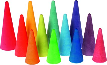 Pastel Rainbow Forest Set of Tree Figures for Pretend Play