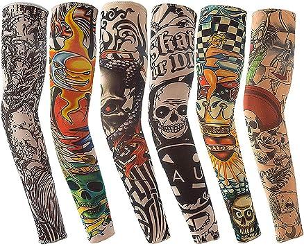 Vordas Mangas Tatuadas, 6PCS Tatuajes Temporales Brazo ...