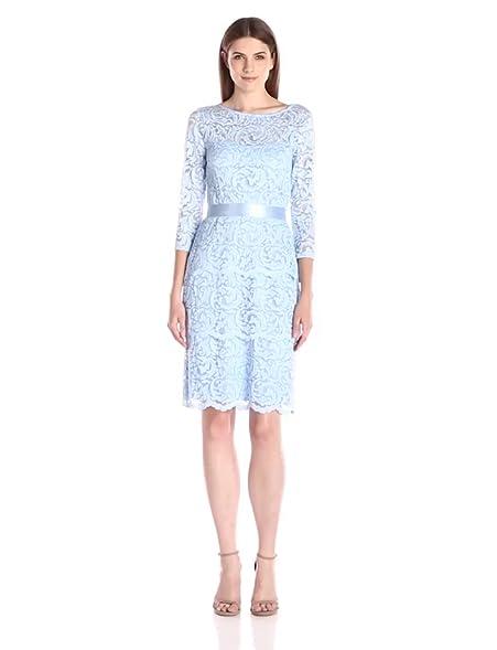 Marina floral stretch lace dress