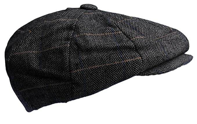 78f81652c978 Victorian Style Peaky Baker boy Newsboy Gatsby Light Brown Cap - Large:  Amazon.co.uk: Clothing