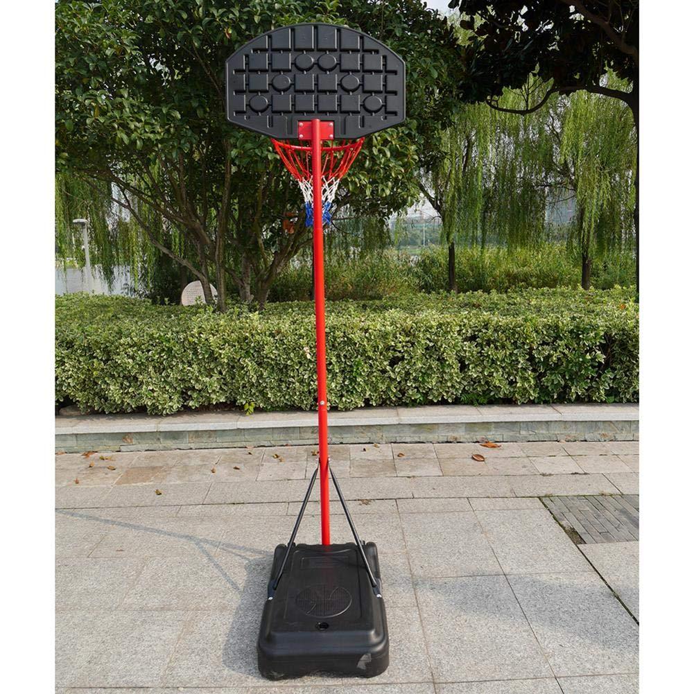 Bulary Black & Red Portable Removable Adjustable Teenager Basketball Rack by Bulary (Image #3)