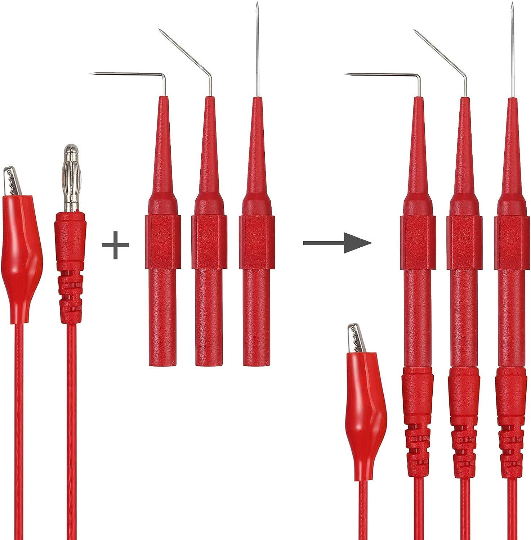 Neoteck 25pcs Back Probe Test Lead with 15pcs Back Probe Pins /& 5pcs Banana Plug to Alligator Clip 5 PCS Alligator Clips for Multimeter Diagnosis Circuit Testing