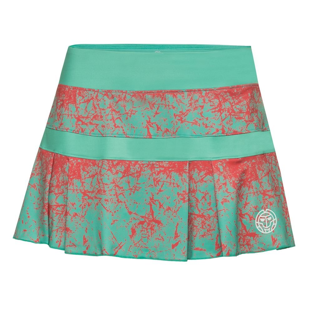 BIDI BADU Liza Tech Skort - Green/Coral (FS18): Amazon.es ...