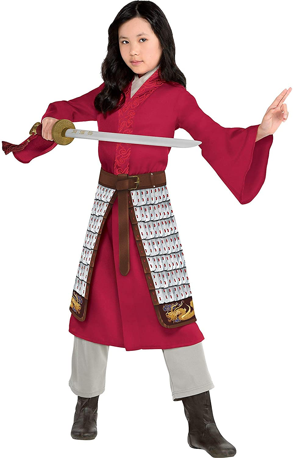 Disney Mulan Halloween Costume for Toddlers, Dress, Pants and Skirt