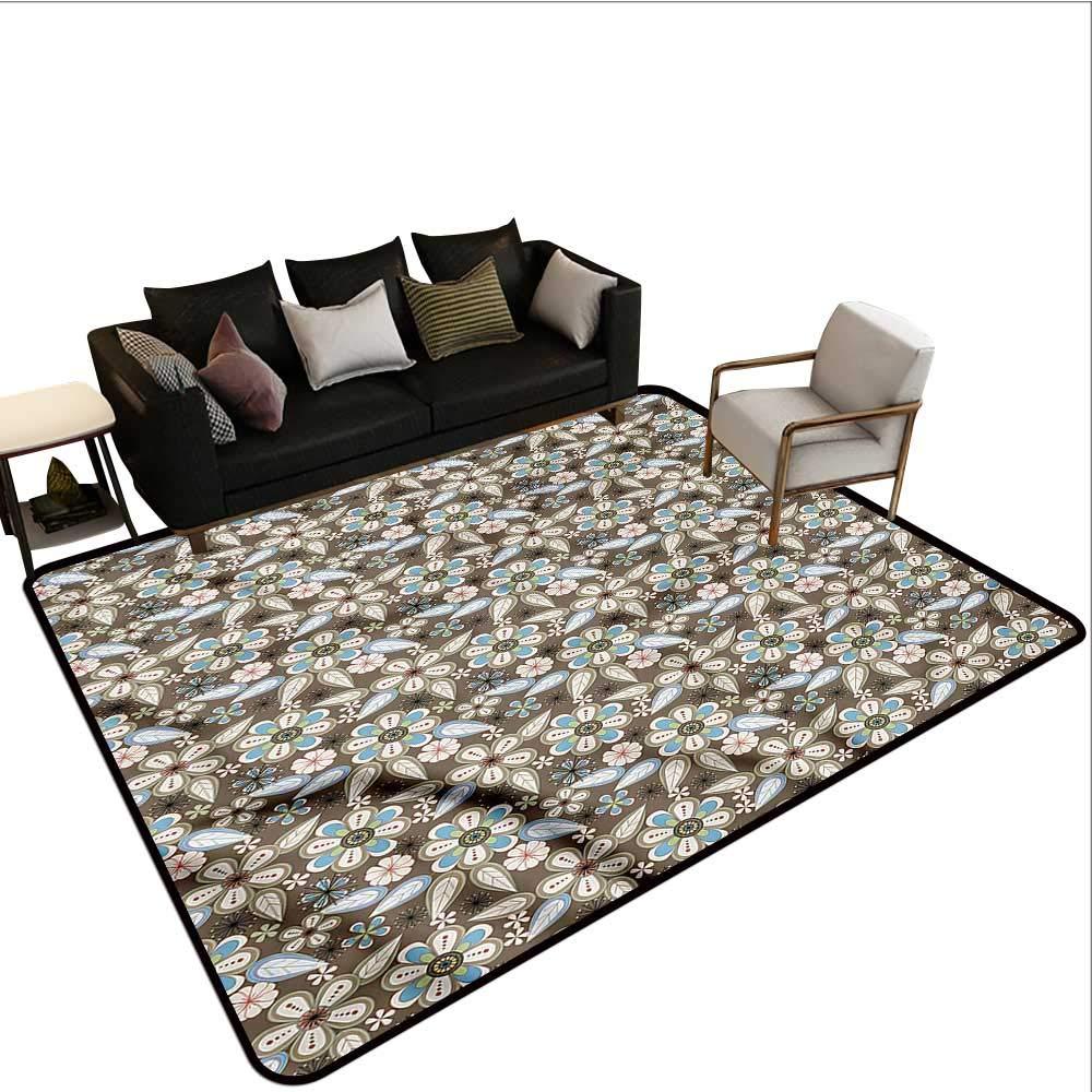 """Floral,Anti-Slip Cooking Kitchen Carpets 36""""X 60"""" Spring Nostalgia Retro Non-Slip Area Rug Pad"""