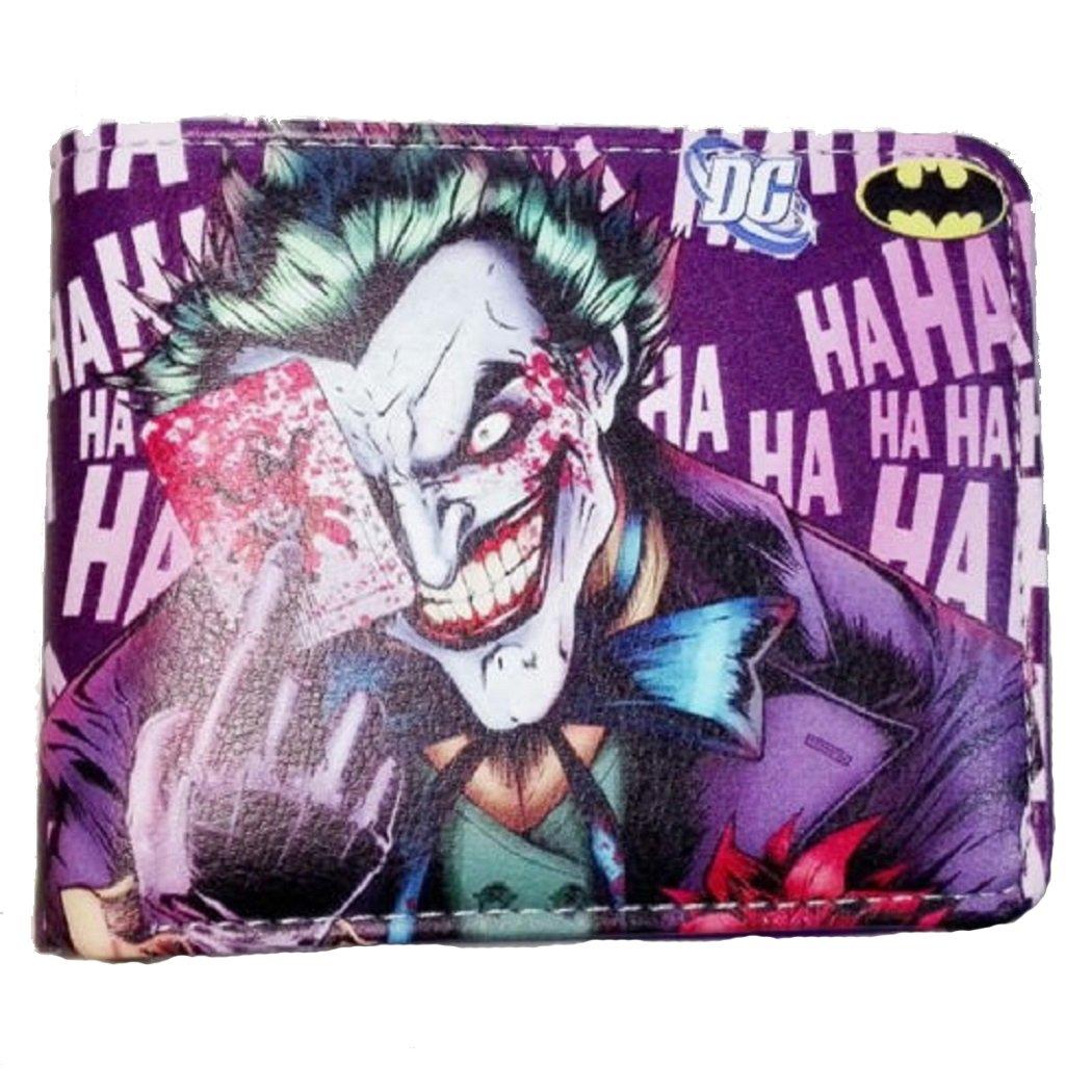 Cartera de doble pliegue con diseño de Joker riéndose ...