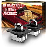 Tigeracing Tie Down Anchors Retractable Truck Bed D Ring Compatible 2019 Ram 1500 (ONLY Classic Model,NOT New) | 2019…