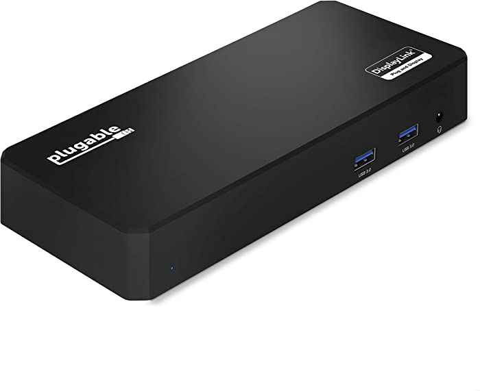 Plugable USB C Triple Display Docking Station with Laptop Charging, Thunderbolt 3 or USB C Dock Compatible with Specific Windows Systems (3X HDMI, 6X USB Ports, 60W USB PD)