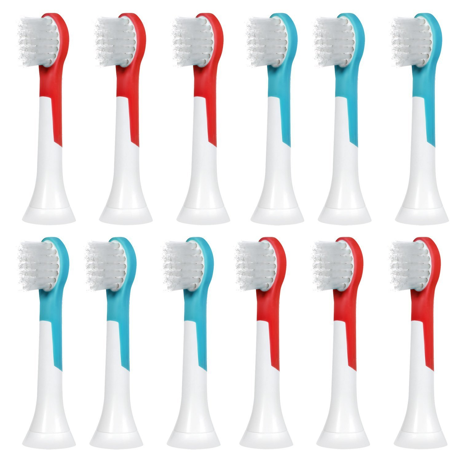 12 pcs (3x4) E-Cron® Toothbrush heads. Philips Sonicare Kids Small Replacement.Spare heads are Fully Compatible With The Following Philips Electric ToothBrush Models: All Sonicare For Kids Models. PCA-6014-1x4