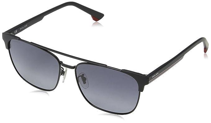 Police Track 7 Gafas de sol, Negro (Semi-matt Black), 57 ...