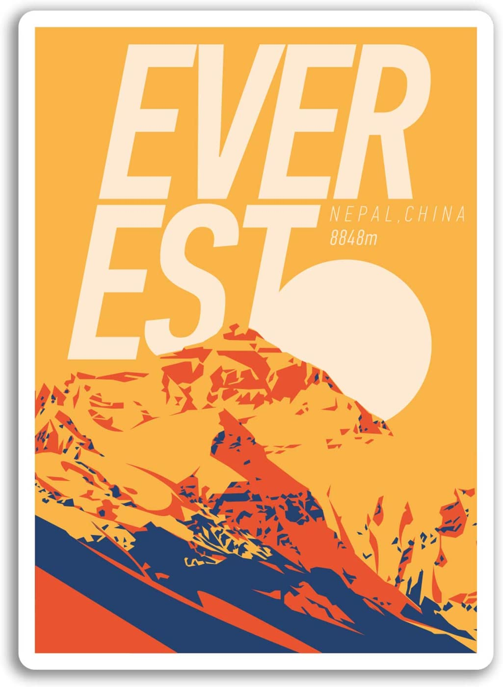 2 x 10 cm Monte Everest pegatinas de vinilo - Escalada ...