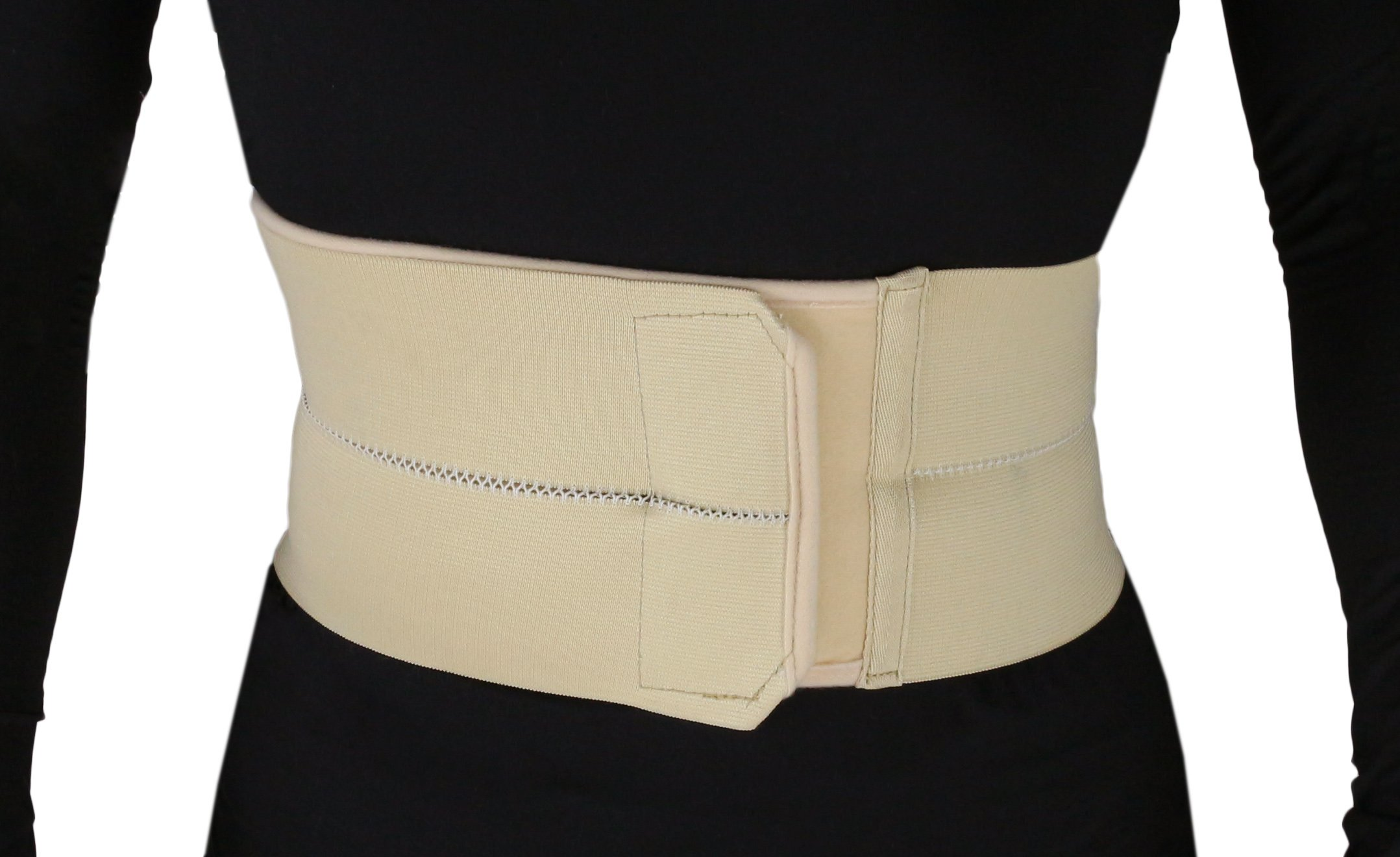 ObboMed MB-2200L 2-Panel Elastic Postpartum Girdle/Postoperative Abdominal Binder Belt, Injuries support, Post pregnancy, Post-Surgical, Hernia, Belly Wrap Brace–Trimming Waist (L: 39 – 43 inches)