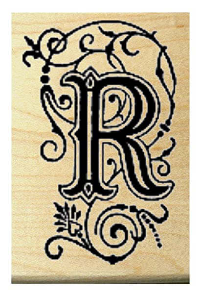 Amazon.com: P29 Monogram letter R rubber stamp: Arts, Crafts & Sewing