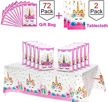 Amazon.com: POKONBOY Unicorn Party Supplies 72 bolsas de ...