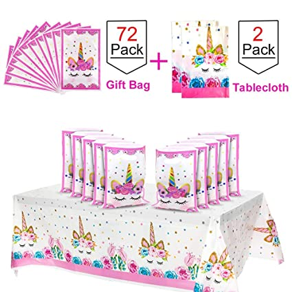 Amazon.com: POKONBOY Unicorn Party Supplies 72 bolsas de ...