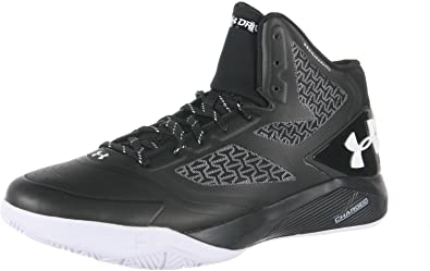 Under Armour Mens Clutchfit Drive 2 Basketball Shoes Black/White  1258143-011 Size 13