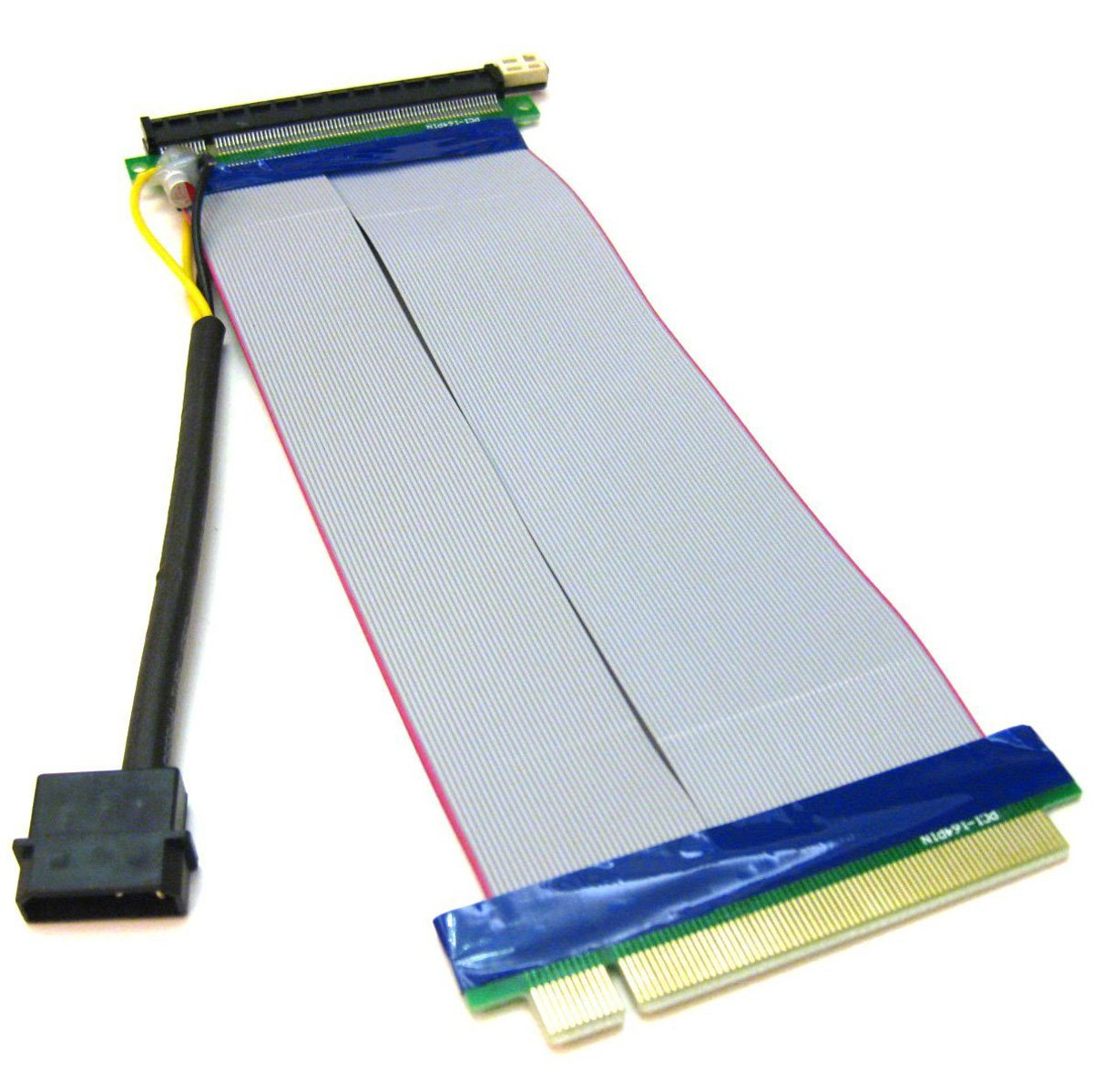 PCI-E 16X to 16X Adapter Riser Card Extension Cable Molex Power