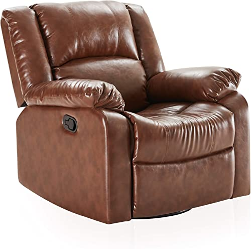 BELLEZE Faux Leather Rocker and Swivel Glider Recliner Living Room Chair