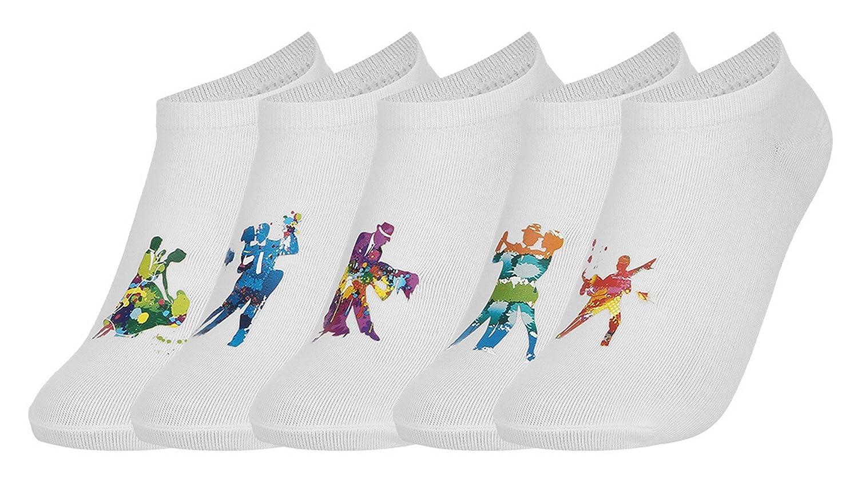 EOZY Lot 5 Pcs Chaussette Socks Halloween Socquette Basse Chausson Cartoon Mixte Unisexe
