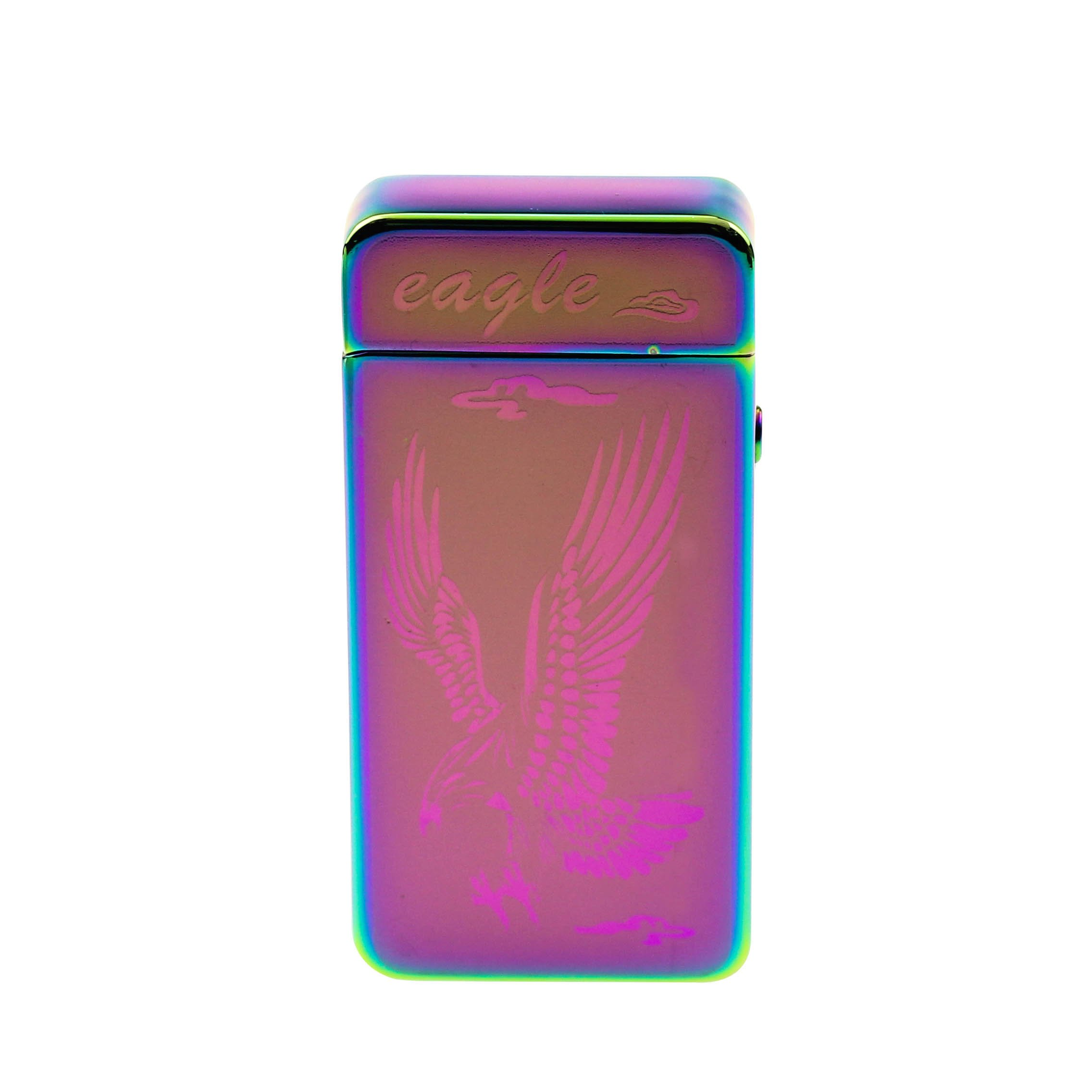 Sunshine USB Lighter Dual Arcs Flameless Windproof Wider Arcs Plasma Beam Dual Arc Lighter USB cable included (Rainbow Eagle) by Sunshine (Image #4)