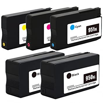 GREENPRINTER 5 cartuchos GENÉRICOS impresora HP 950 XL 951 XL ...