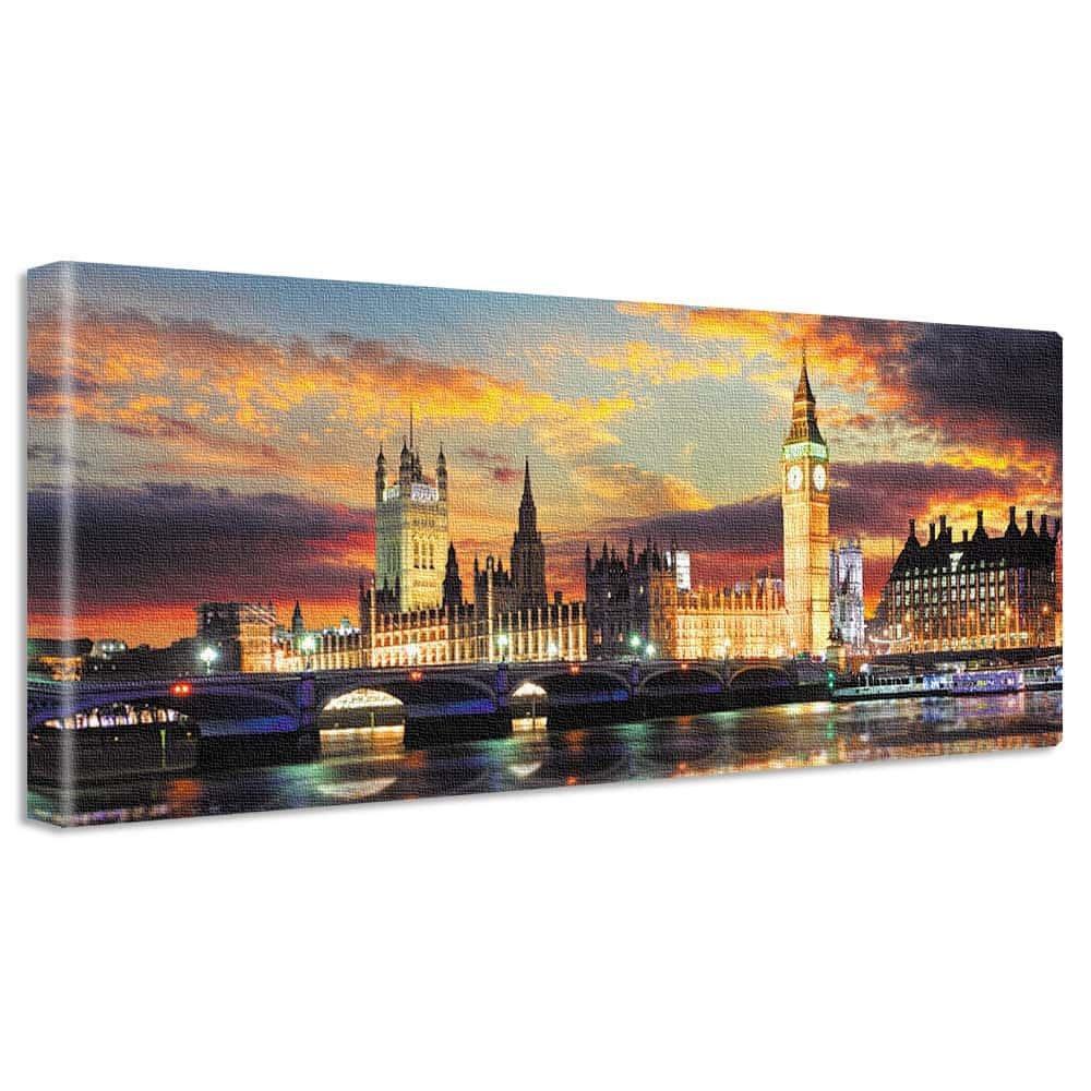 【アートデリ】夜景のファブリックパネル インテリア 雑貨 アート ビッグベン ロンドン poht-w-1703-05 ワイドサイズ poht-w-1703-05 B072J6XMVM
