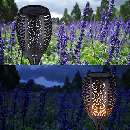 Solar Flame Torch Light Outdoor Garden Solar Panel Powered Lamp 96 led Hanging Flame Flicker Candle Lighting for Pathway