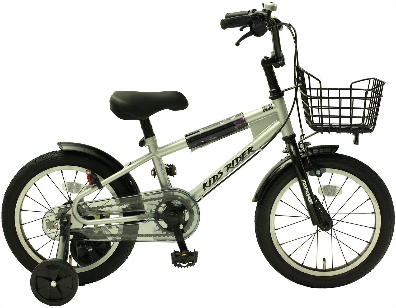 TOPONE キッズ 16インチ BMX風 子供用自転車 補助輪 前カゴ KidsRider シルバー B07BSCMMK5