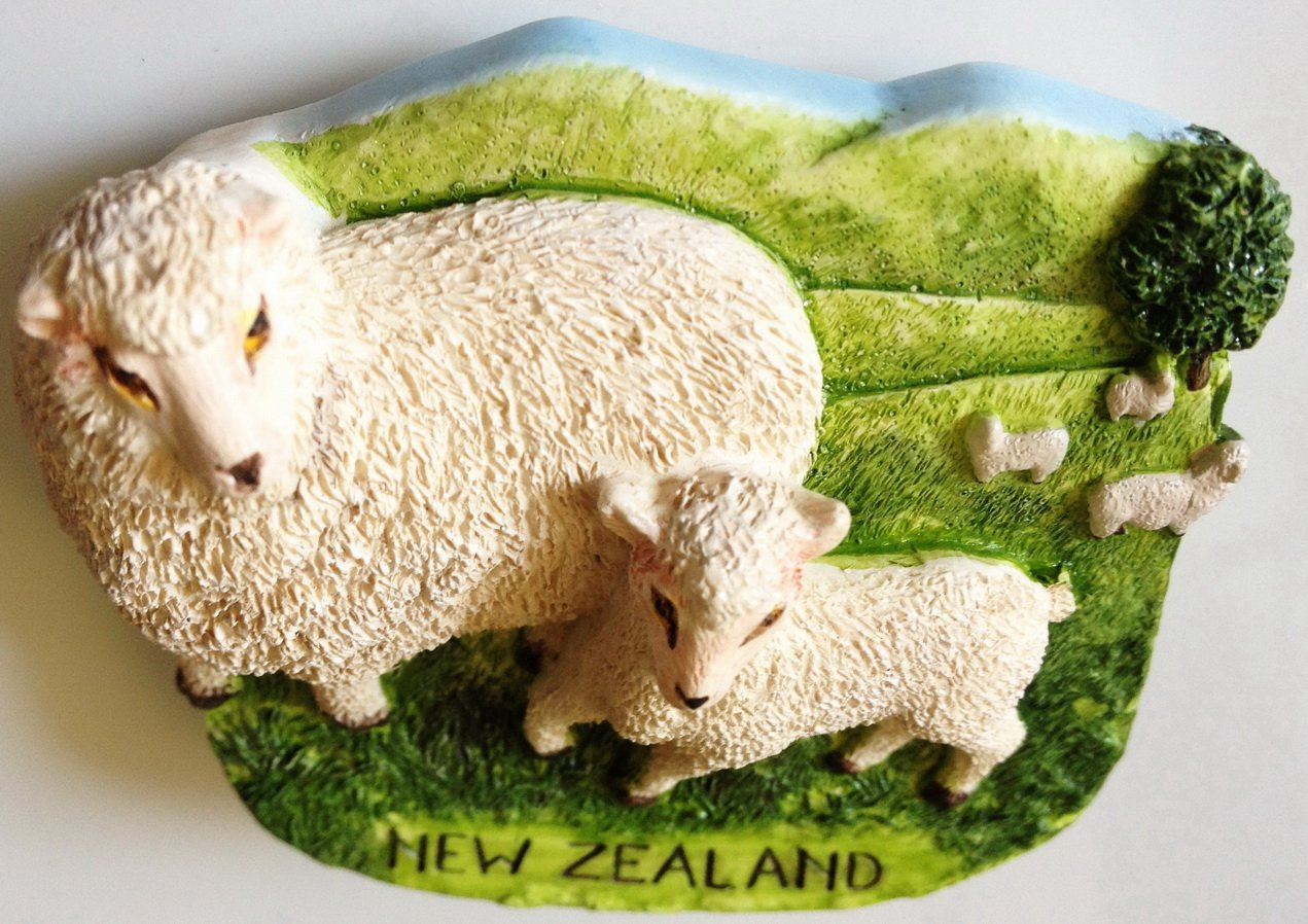 Sheep NEW ZEALAND Resin 3D fridge Refrigerator Thai Magnet Hand Made Craft. by Thai MCnets by Thai MCnets