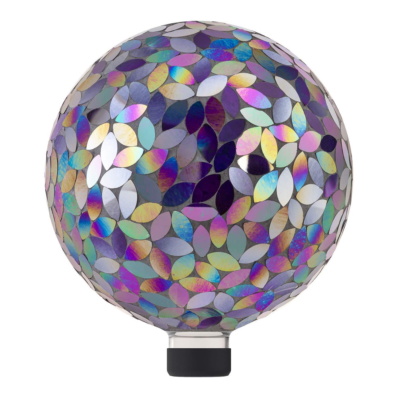 Alpine Corporation Indoor/Outdoor Glass Mosaic Gazing Globe Yard Decoration