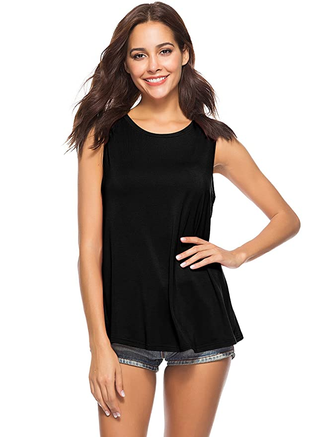295f2824624 Yucharmyi Women s Open Back Tank Backless Split Blouse Knit Summer Shirts  at Amazon Women s Clothing store