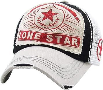 e63e9c618 KBETHOS Lonestar Collection Big T Western Dallas Houston Hats Vintage  Distressed Baseball Cap Dad Hat Adjustable